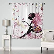 Amazon Com Kids Room Curtains With Butterflies