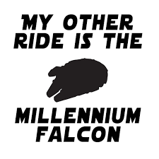 My Other Ride Is The Millennium Falcon Vinyl Sticker Car Decal