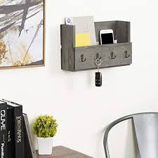 mygift rustic gray wood wall mounted