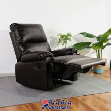 leather recliner chair manual couch