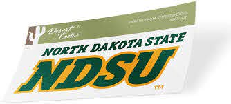 Amazon Com North Dakota State University Ndsu Bison Thundering Herd Ncaa Vinyl Decal Laptop Water Bottle Car Scrapbook Sticker 002 Computers Accessories