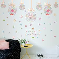 Christmas Colorful Ball Pendant Window Glass Decor Wall Stickers Festival Living Room Bedroom Wall Art Mural Posters Wall Graphic Quote Wall Decal Printing Wall Decal Quotes From Magicforwall 6 12 Dhgate Com