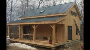 20x30 timber frame vermont cabin