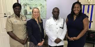 Deputy Commissioner Maxine Graham, INL Program Officer Rachel Cook, Deputy  Commissioner Paul Williams, Political and Economic Counselor Alexandra King  Pile | U.S. Embassy in Guyana