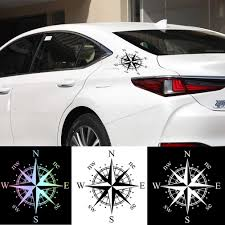 1pcs Universal Car Sticker Compass Rose Vinyl Decal Reflective Motorcycle Decoration Decal Sticker Black White Laser Car Stickers Aliexpress