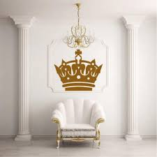 Wall Decal Sticker Design Crown Glans King Princess Living Room Modern I18 Ebay