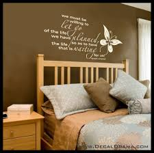 We Must Be Willing To Let Go Of The Life We Have Planned Vinyl Wall D Decal Drama