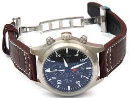 aviator 22mm dark brown alligator watch