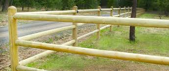 Rail Wood Fence Posts And Lodgepole Pine Poles