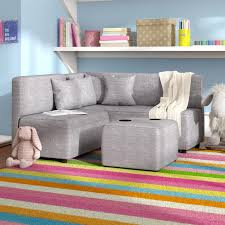 Alexanderplatz Kids Ottoman With Cup Holder Kids Sofa Kids Couch Kids Playroom Seating
