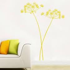 Algajola Flower Wall Decal Yellow Ocher Wall Decals Yellow Yellow Wall Stickers Yellow Home Decor