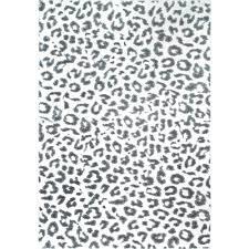 nuloom leopard print gray rectangular