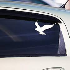 Amazon Com Hawk Flying Vinyl Sticker White Car Bumper Window Sticker 3 X 2 Automotive
