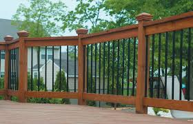 Porch Railing Options Tulumsmsenderco Lowe S Deck Ideas Hog Wire Fence Home Elements And Style Details Aluminum Wood Styles Easy Pipe Concrete Crismatec Com