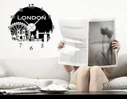 London Wall Decal Clock Style And Apply