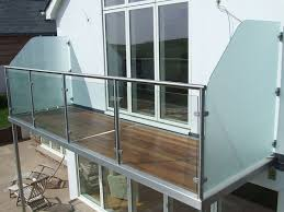 china balcony railing design glass