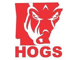 Razorback Face Hogs Vinyl Decal Arkansas Razorbacks State Etsy