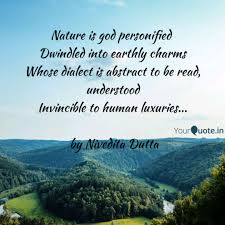nature is god personifie quotes writings by nivedita dutta