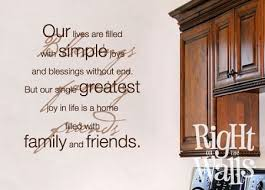 Lives Filled Family Wall Quote Family Wall Decals Family Vinyl Wall Art