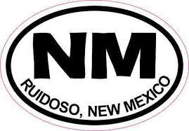 3 2 Oval Nm Ruidoso New Mexico Sticker Travel Luggage Decal Car Stickers Stickertalk