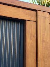 Lysaght Mini Orb And Timber Detailing Backyard Landscaping Designs Fence Design Walling