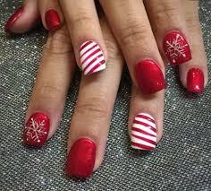 Christmas Nails Paznokcie Czerwone Paznokcie Wzory