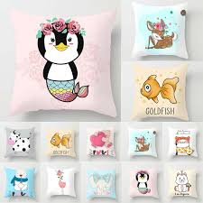 Cute Cartoon Animal Sofa Pillow Case Kids Room Cushion Covers Decorative 1717 2 29 Kids Pillows Idea Animal Cushions Throw Pillows Christmas Kids Pillows
