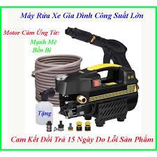 Máy Rửa Xe Mini Gia Đình Áp Lực Cao Lõi Đồng 100 Tặng Bình Ọt