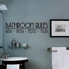 Bathroom Rules Vinyl Wall Decal Wash Brush Lilbitolove
