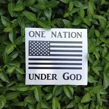 One Nation Under God American Flag Vinyl Decal Car Window Etsy
