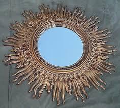 huge vintage 48 sunburst mirror mid