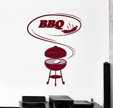 Vinyl Wall Decal Barbecue Cooking Bbq Food Meat Stickers Mural Unique Wallstickers4you