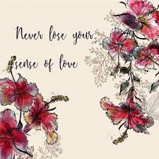 floral background quote vector