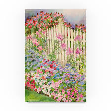 Trademark Art Picket Fence Acrylic Painting Print On Wrapped Canvas Wayfair