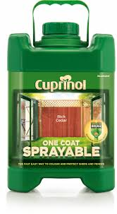 Cuprinol One Coat Sprayable Rich Cedar Wood Paint Departments Diy At B Q