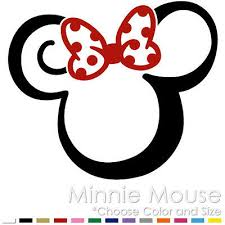 Tribal Minnie Mouse Two Color Tattoo Mickey Disney Vinyl Decal Sticker Mm 11 Ebay