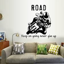 Wall Stickers Home Decoration Diy Stunt Motorcycle Wall Sticker Decal Art Mold Silhouette L0426 Wall Stickers Aliexpress