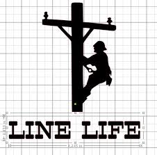 Line Life Lineman Decal Download Studio3 Dxf Png Etsy Lineman Silhouette Projects Cricut Tutorials