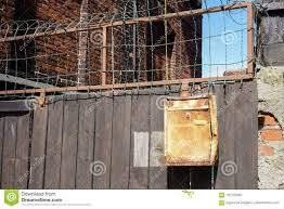 A Wooden Fence With A Old Mailbox Stock Photo Image Of Fence Post 120132940