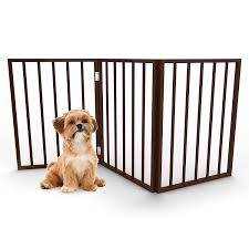 Foldable Free Standing Wooden Pet Gate Light Weight Indoor Barrier For Small Dogs Cats By Petmaker 24 Inch Dark Bro Wooden Pet Gate Dog Playpen Dog Gate