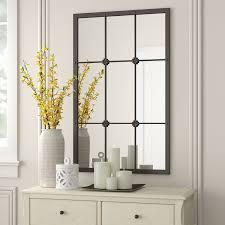 kristofer window pane wall mirror