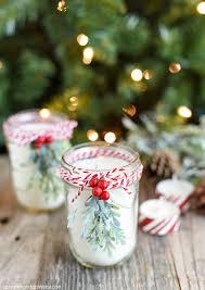 diy peppermint mason jar candles a