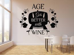 Vinyl Wall Decal Alcohol Words Quote Bar Wine Shop Restaurant Stickers Wallstickers4you