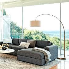 overarching linen shade floor lamp