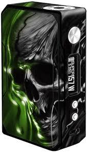 Amazon Com Skin Decal Vinyl Wrap For Voopoo Drag 157w Tc Resin Reg Vape Mod Stickers Skins Cover Dark Skull Skeleton Neon Green