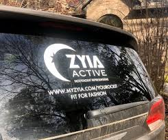 Large Car Window Decal White Zyia Logo Decal Custom Etsy