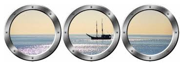 Vwaq Boat Window Decals Portholes Decor Ocean View Wall Mural Beach Style Wall Decals By Vwaq Vinyl Wall Art Quotes And Prints