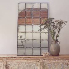 venetian glass aged mirror with small