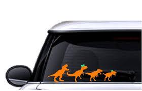 Dinosaur Family Car Window Stickers Family Car Stickers Car Etsy