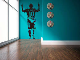 E Wall 5659 Lionel Messi Sports Theme Wall Decals Football Star Stickers For Boys Room School And Bars Decor Special Kids Gifts Wall Stickers Aliexpress